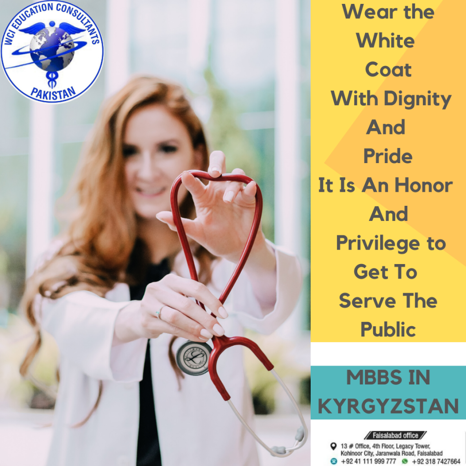 Wear The White Coat With Dignity And Pride, It is an Honor to Get to Serve The Public